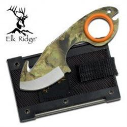 Camouflage Fixed Blade Ring Knife with Free Shipping