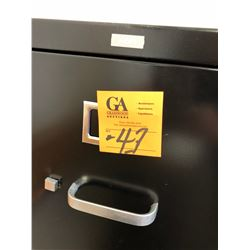 1 Newer Black 4 Door Legal File Cabinet