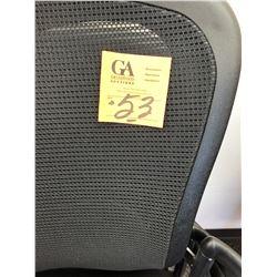 4 Newer Black Back Mesh Waiting Room chairs w/ memory foam cushions