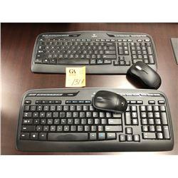2 Logitech Keyboards wireless w/mouse