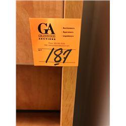 1 - 2 piece corner desk w/ Upper Cabinet