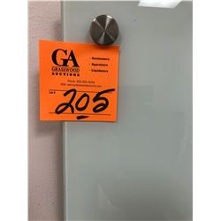 1 Clear Glass White Board