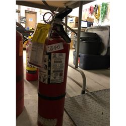 3 Fire Extinguishers (2 - 5 LB Class ABC & 1 - 10 LB)