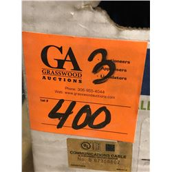 3 Belden CAT 5E-1583A, 4PR 24AWG Blue Cable (All Partial, Approx 1400' in Total)