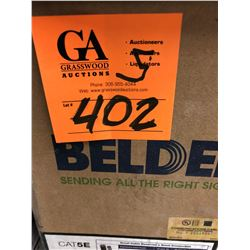 5 Boxes Beldon Blue Cable (all Partial Boxes, Approx 2450')