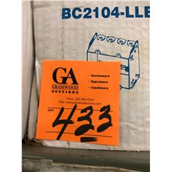 """3 Boxes - 3""""x3 1/4""""x 2 1/2"""" Electrical Box/Partial Box w/Octaean Boxes 4""""x4""""x2 1/8"""", Hubbell UFC001"""