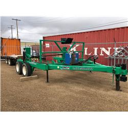 "Custom Built HD 10 x 12 ft Cable Reel Trailer, Hydraulic 17.5 Tandem, 1/2"" Plate construction"