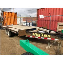 "16 ft Big Tek 6000 LB Axle Tandem Trailer, 15"" Tires with Ramps"