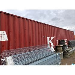 40 ft High Cube Sea Container, Excellent Wood Floor, Fully Electrified w/5 Fluorescent Light Fixture