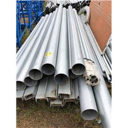 """Approx 12 Units of 10ft x 4"""" Steel Pipe, Approx 26 - 12ft x 4"""" Channel Iron, Various Threaded Pipe"""
