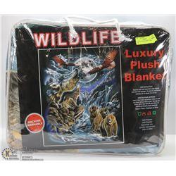 LUXURY PLUSH BLANKET -WILD LIFE