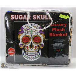 LUXURY PLUSH BLANKET -SUGAR SKULL
