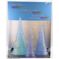 SET OF 3 TREES W/ COLOR CHANGING LED LIGHTS
