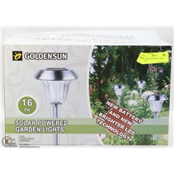 16PC SOLAR POWERED GARDEN LIGHTS