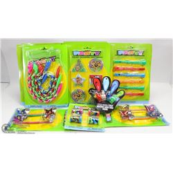 BASKET FULL OF KIDS TOYS INCL PUZZLES, GAMES