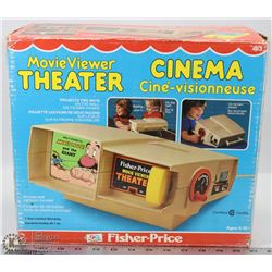 FISHER PRICE MOVIE THEATER & TAPES.
