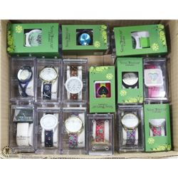 LOT OF 15 NEW ASSORTED SHAGWEAR WATCHES