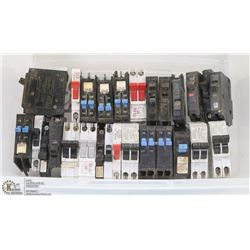 TOTE OF ELECTRICAL BREAKERS