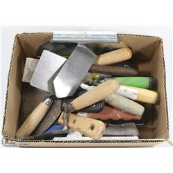 BOX OF PLASTER TOOLS