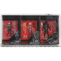 LOT OF THREE STAR WARS THE BLACK SERIES ACTION