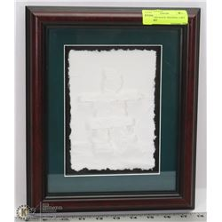 FRAMED INUKSUK ORIGINAL CAST PAPER ART