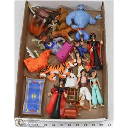 FLAT OF ASSORTED KIDS TOYS INCL. ALADDIN, BROTHER