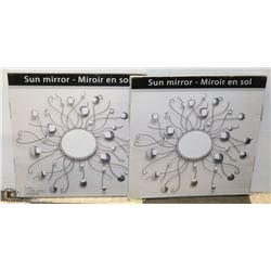LOT OF 2 NEW BOXED SUN MIRRORS.