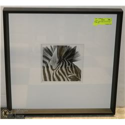 SHOWHOME ZEBRA FACE PICTURE IN FRAME