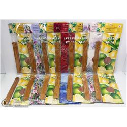 BUNDLE OF INCENSE STICKS AND STANDS