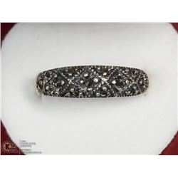 STERLING SILVER MARCASITE RING SIZE 8.75