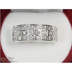 STERLING SILVER CZ RING (6.5 GRAMS) SIZE 8