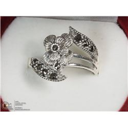 STERLING SILVER MARCASITE RING SIZE 5.75