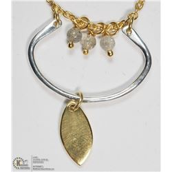 GOLD PLATED STERLING SILVER LABRADORITE NECKLACE