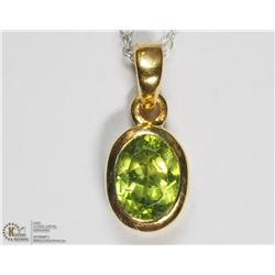 GOLD PLATED STERLING SILVER PERIDOT NECKLACE