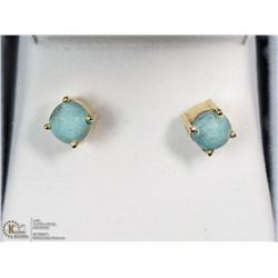 GOLD PLATED STERLING SILVER TURQUOISE EARRINGS