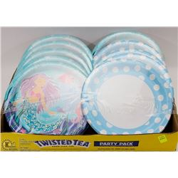 FLAT OF KIDS BIRTHDAY DISPOSABLE PLATES