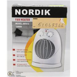 NEW RONA NORDIK FAN HEATER 1500W