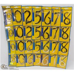 BUNDLE OF ASSORTED HOUSE NUMBERS