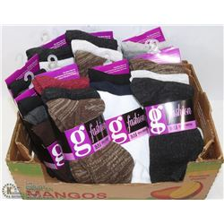 FLAT OF 30 ANKLE SOCKS VARIETY OF