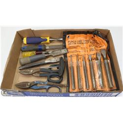 FLAT OF PUNCHES, CHISELS & CUTTERS