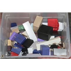 LARGE BOX OF ASSORTED JEWELRY BOXES.