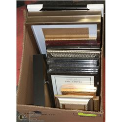 BOX OF ASSORTED PHOTO FRAMES