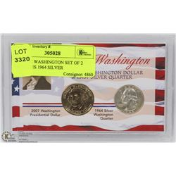 GEORGE WASHINGTON SET OF 2 INCLUDES 1964 SILVER