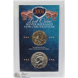 2004 USA 2PC SET DOLLAR, 50 CENTS