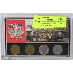 4PC CANADA NICKEL SET - COIN THAT WON THE WAR