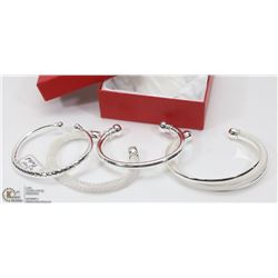 LOT OF 4 SILVER PLATED NEW BRACELETS