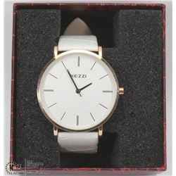 NEW KEZZIE LADIES WATCH WITH HEATHER WHIT STRAP