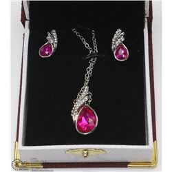 CRYSTAL FASHION PINK NECKLACE