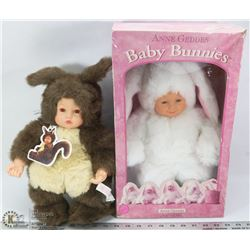 PAIR OF BABY BUNNY'S ONE WITH ORIGINAL BOX.
