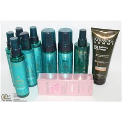 BAG OF ASSORTED HAIR TREATMENTS & CONDITIONERS